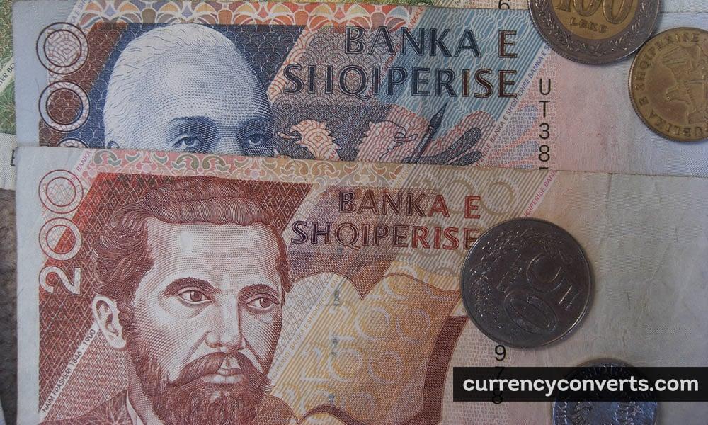 Albanian lek - ALL money image