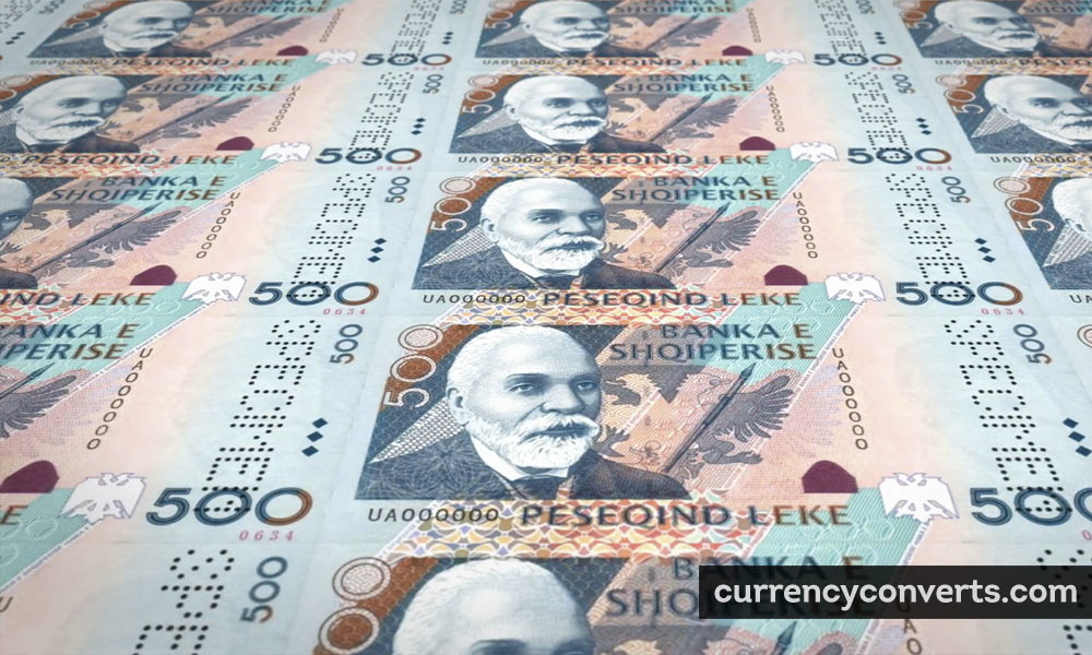 Albanian Lek ALL currency banknote image