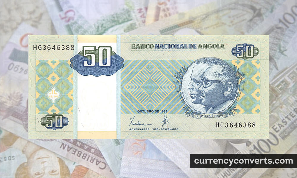 Angolan Kwanza AOA currency banknote image