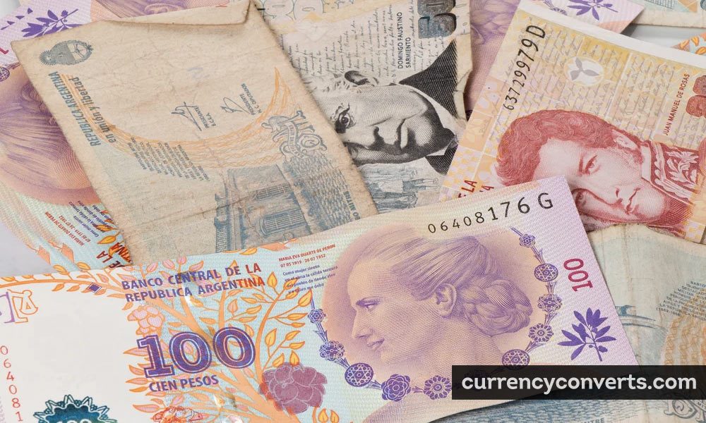 Argentine Peso ARS currency banknote image