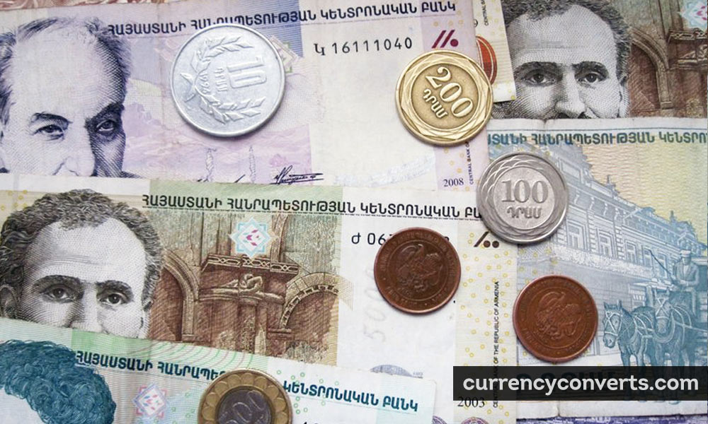 Armenian Dram AMD currency banknote image