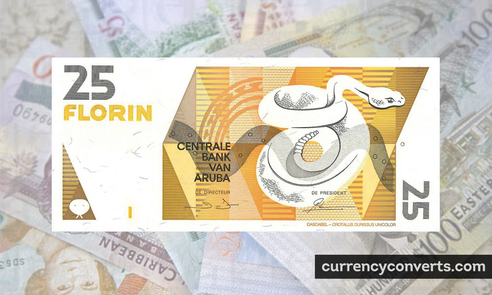 Aruban Florin AWG currency banknote image