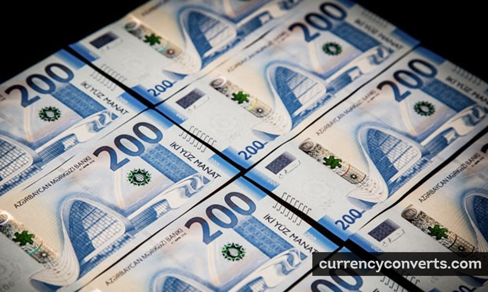 Azerbaijani Manat AZN currency banknote image