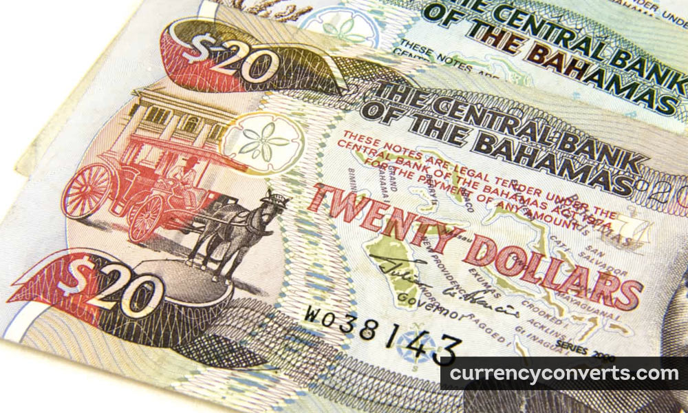 Bahamian Dollar BSD currency banknote image