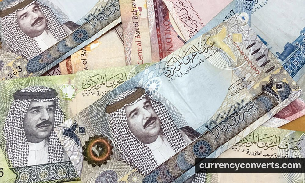 Bahraini Dinar BHD currency banknote image
