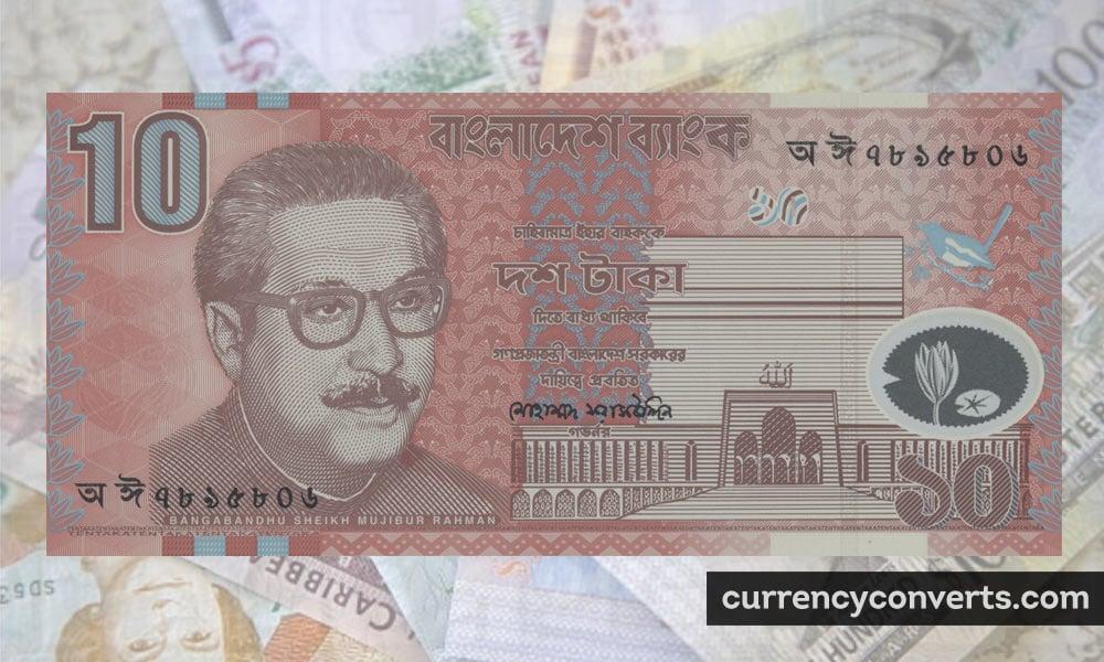 Bangladeshi Taka BDT currency banknote image