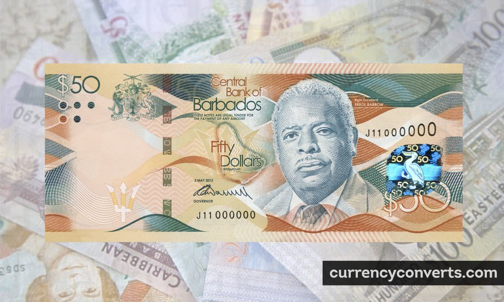 Barbadian Dollar BBD currency banknote image