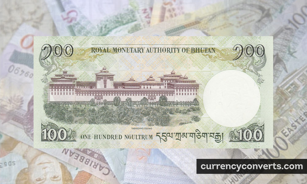 Bhutanese Ngultrum BTN currency banknote image