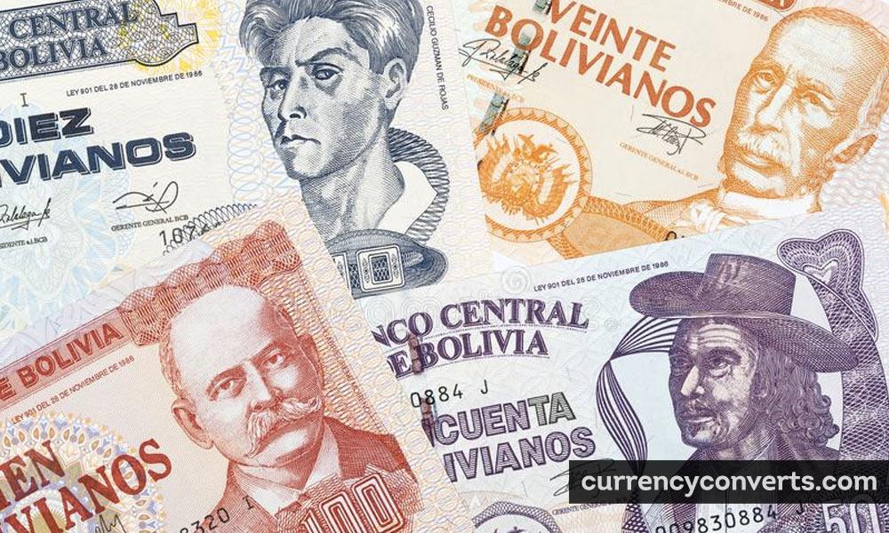 Bolivian Boliviano BOB currency banknote image