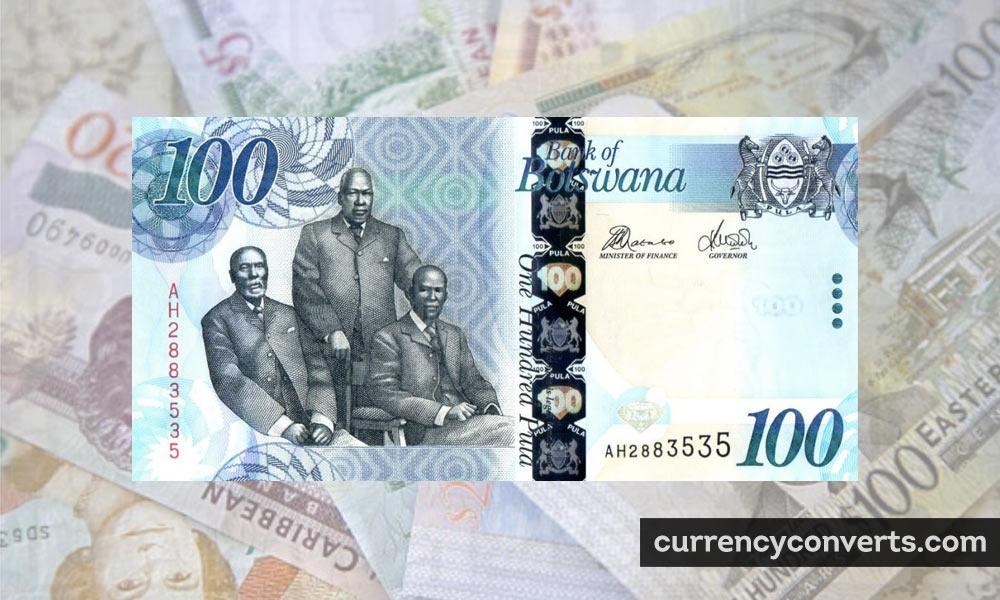 Botswanan Pula BWP currency banknote image