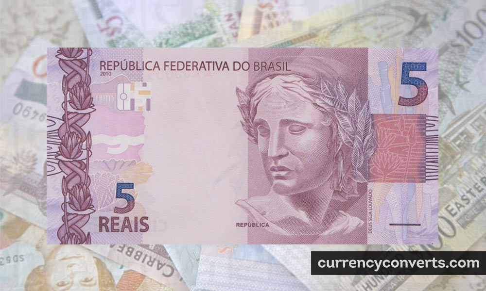 Brazilian Real BRL currency banknote image