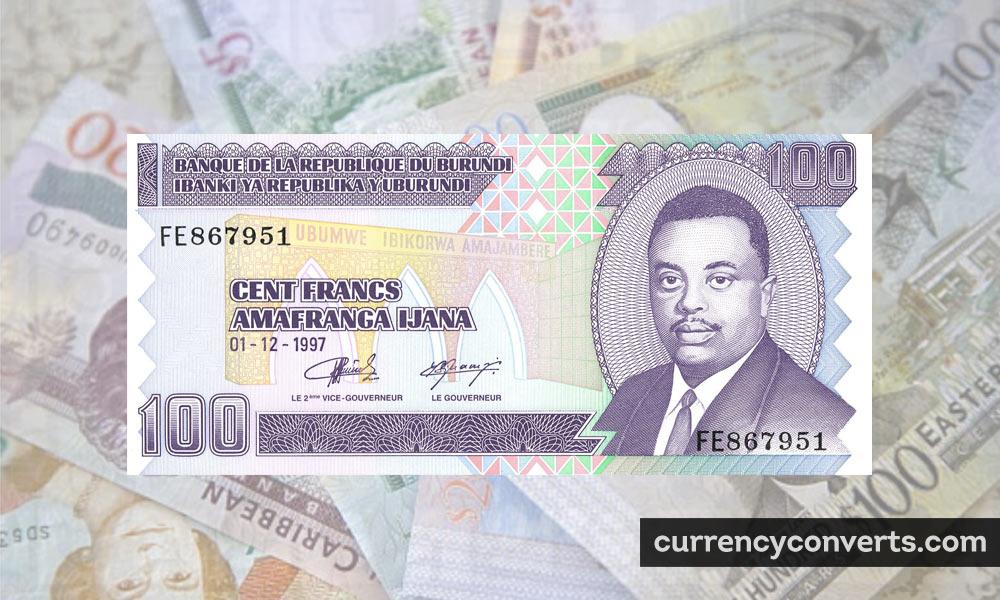 Burundian Franc BIF currency banknote image