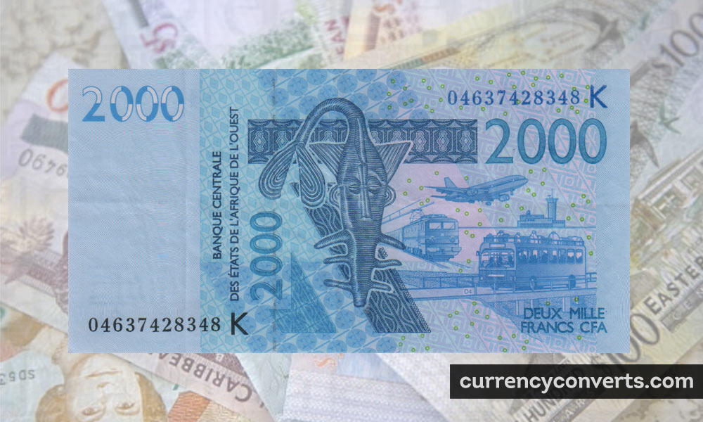 CFA Franc BCEAO XOF currency banknote image