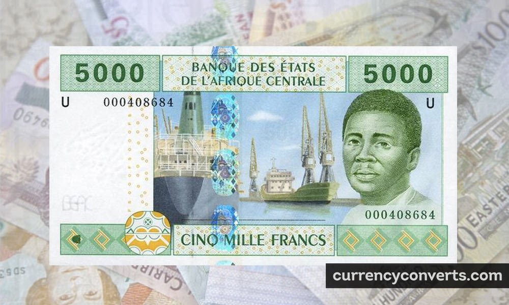 CFA Franc BEAC XAF currency banknote image