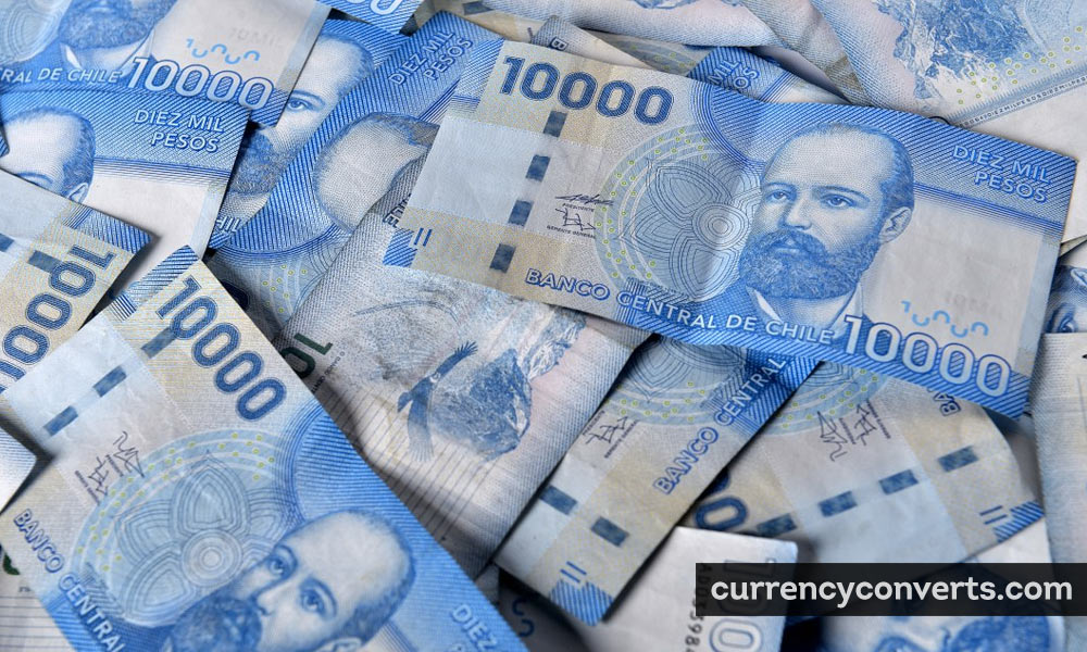 Chilean Peso CLP currency banknote image