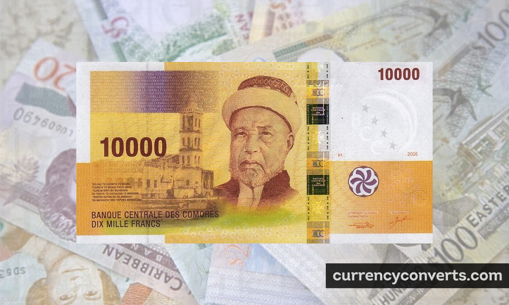 Comorian Franc KMF currency banknote image