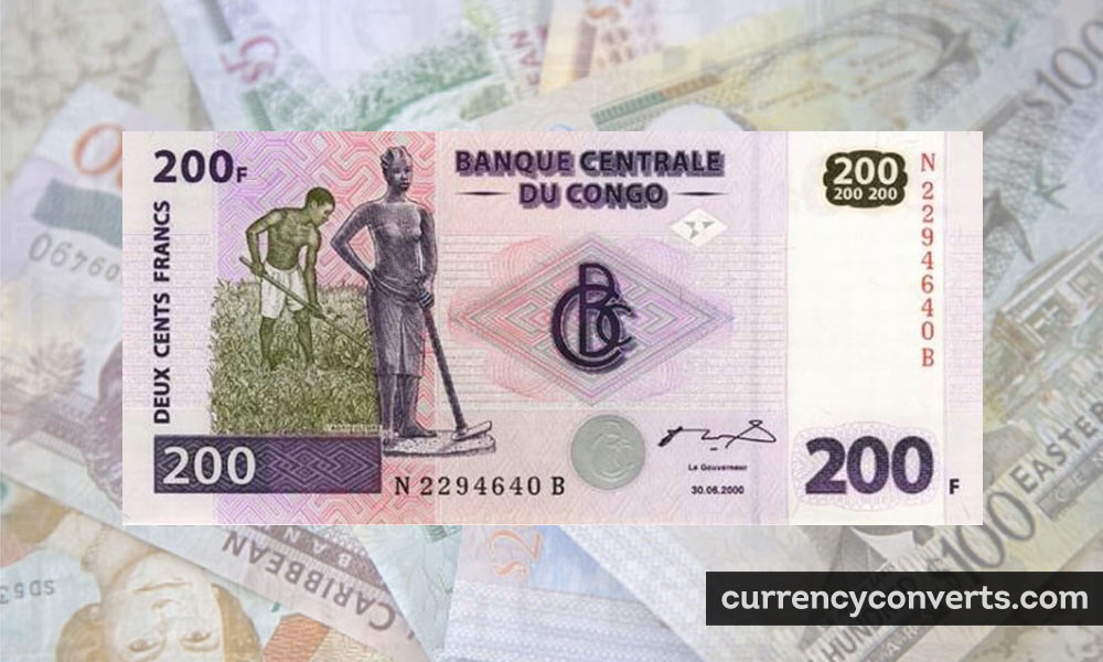 Congolese Franc CDF currency banknote image
