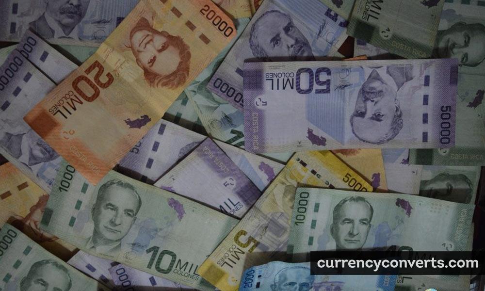 Costa Rican colon - CRC money image