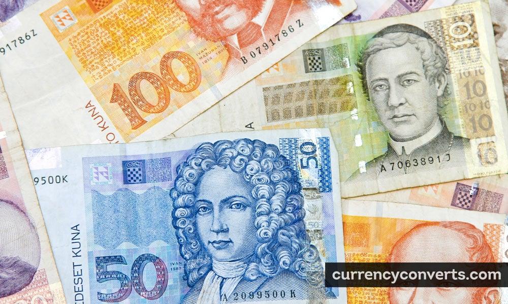 Croatian Kuna HRK currency banknote image