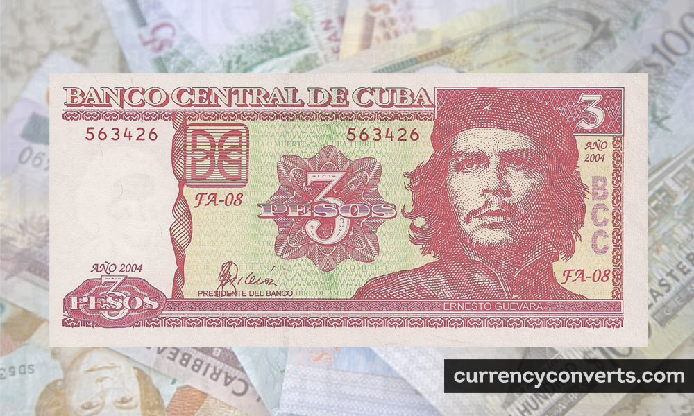Cuban Peso CUP currency banknote image