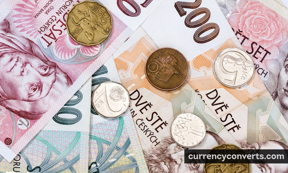 Czech Koruna CZK currency banknote image