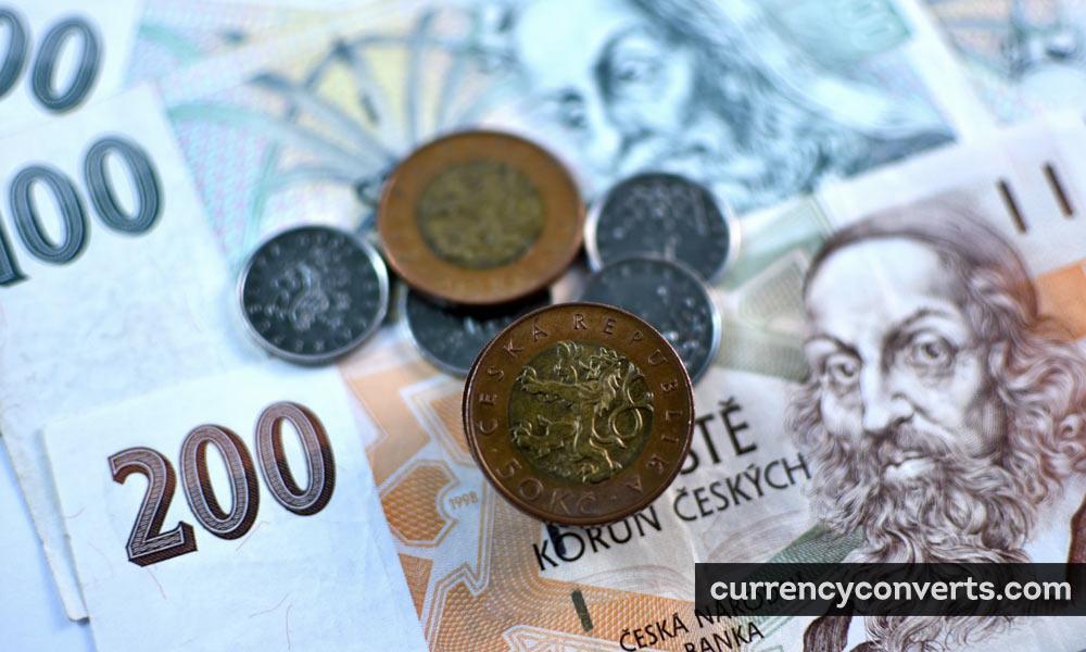 Czech Republic Koruna CZK currency banknote image
