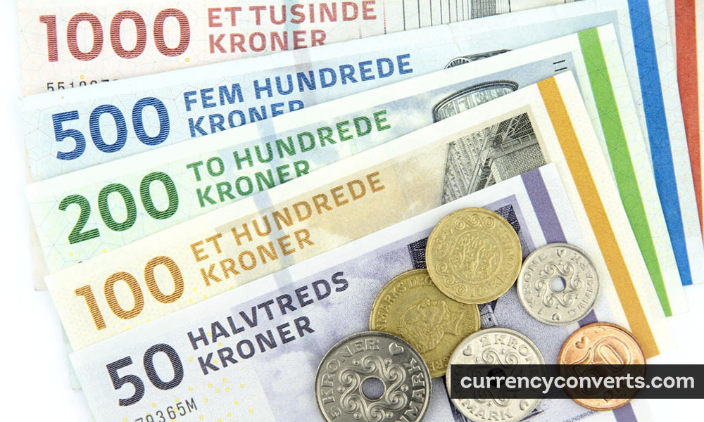 Danish Krone DKK currency banknote image