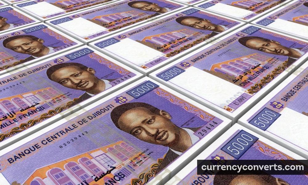 Djiboutian Franc DJF currency banknote image