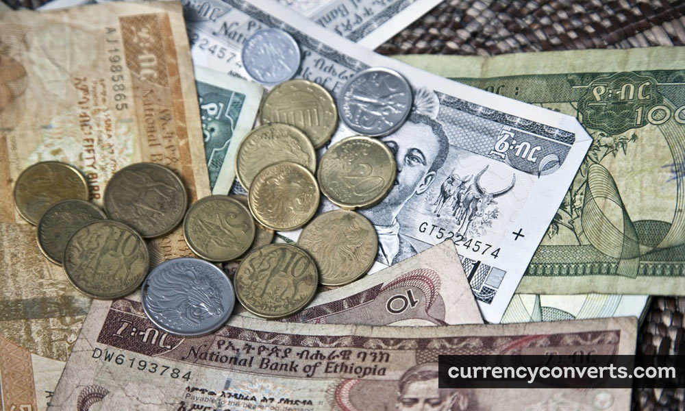 Ethiopian Birr ETB currency banknote image