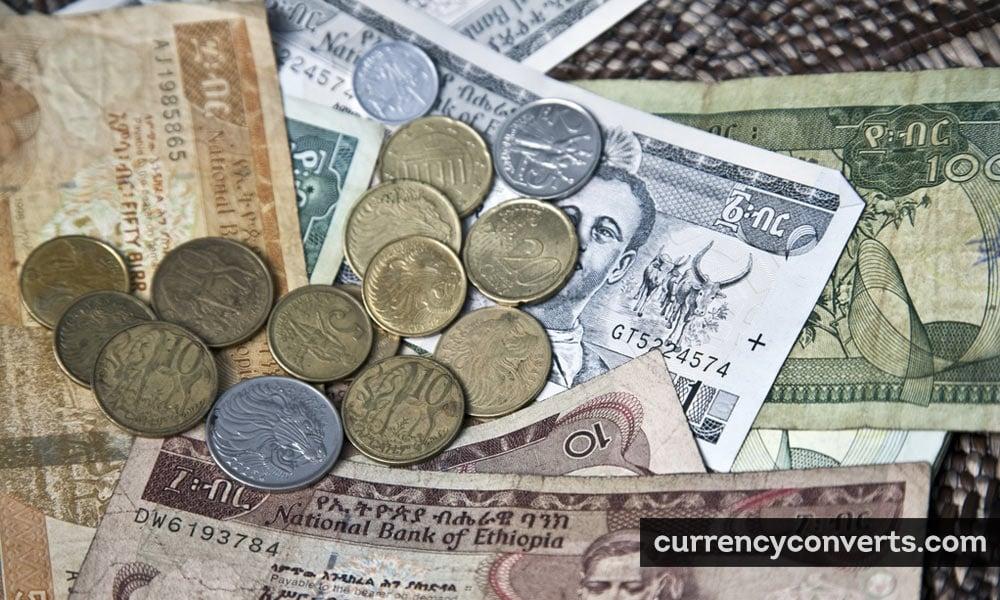 Ethiopian birr - ETB money image