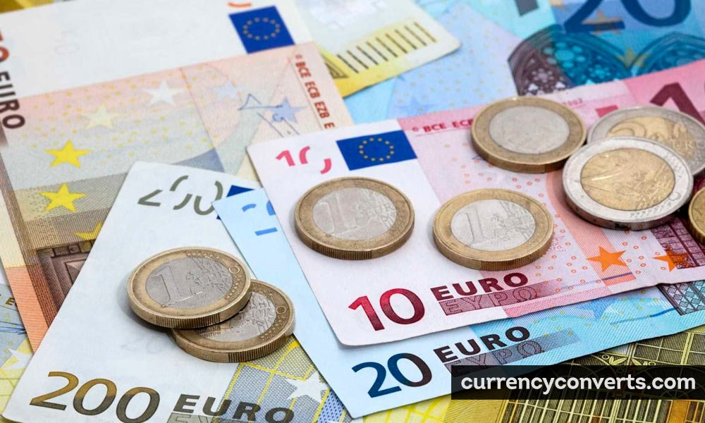Euro EUR currency banknote image