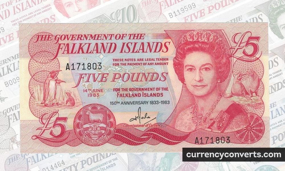 Falkland Islands Pound FKP currency banknote image