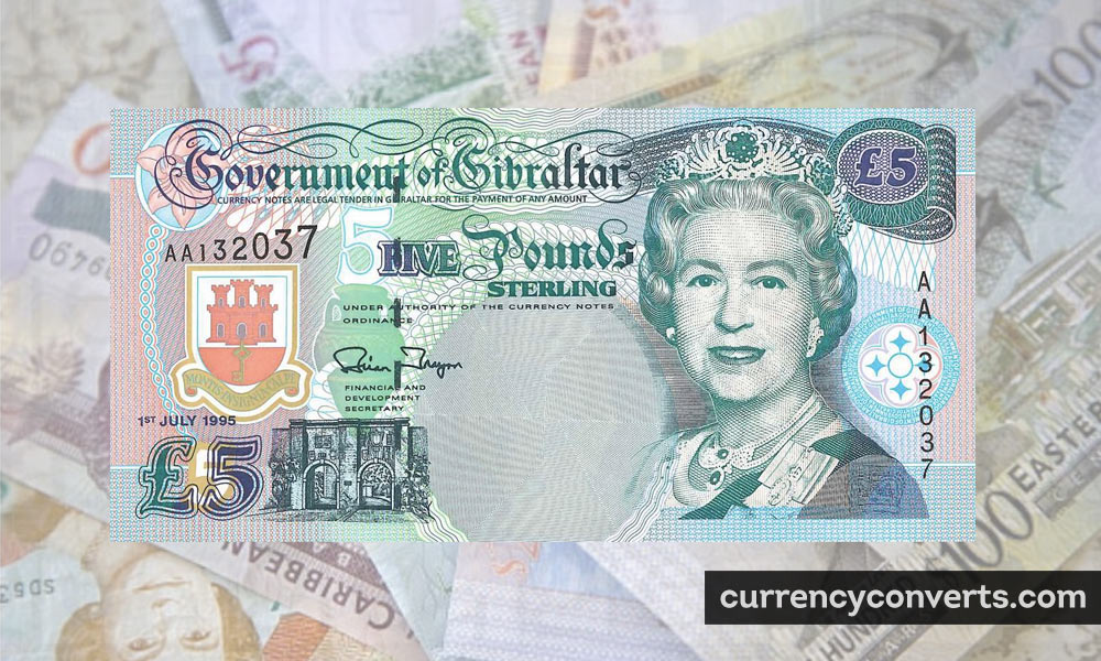 Gibraltar Pound GIP currency banknote image
