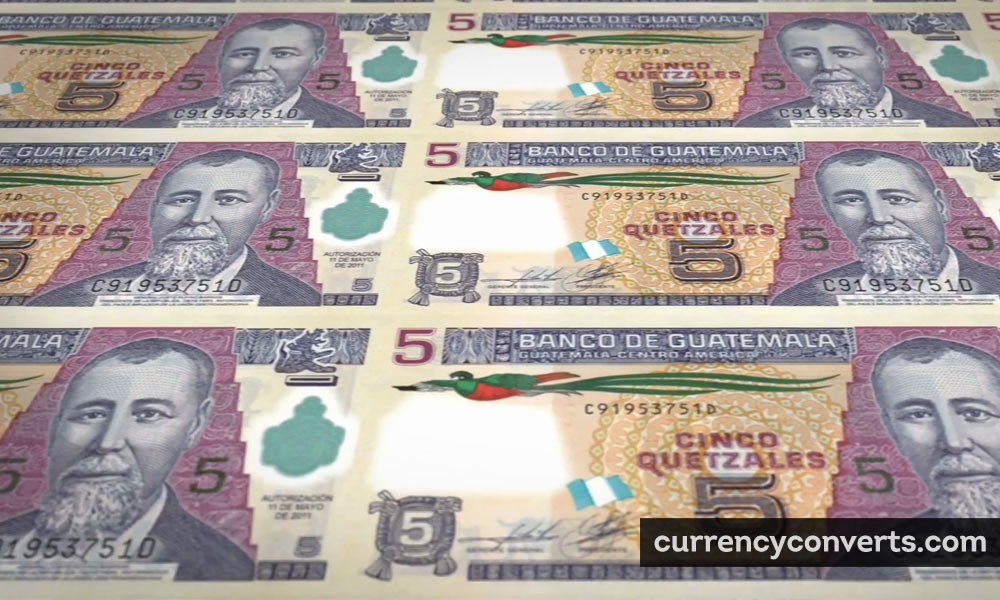 Guatemalan quetzal - GTQ money image