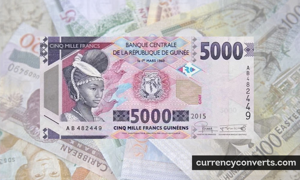 Guinean Franc GNF currency banknote image
