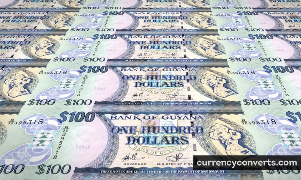 Guyanese Dollar GYD currency banknote image