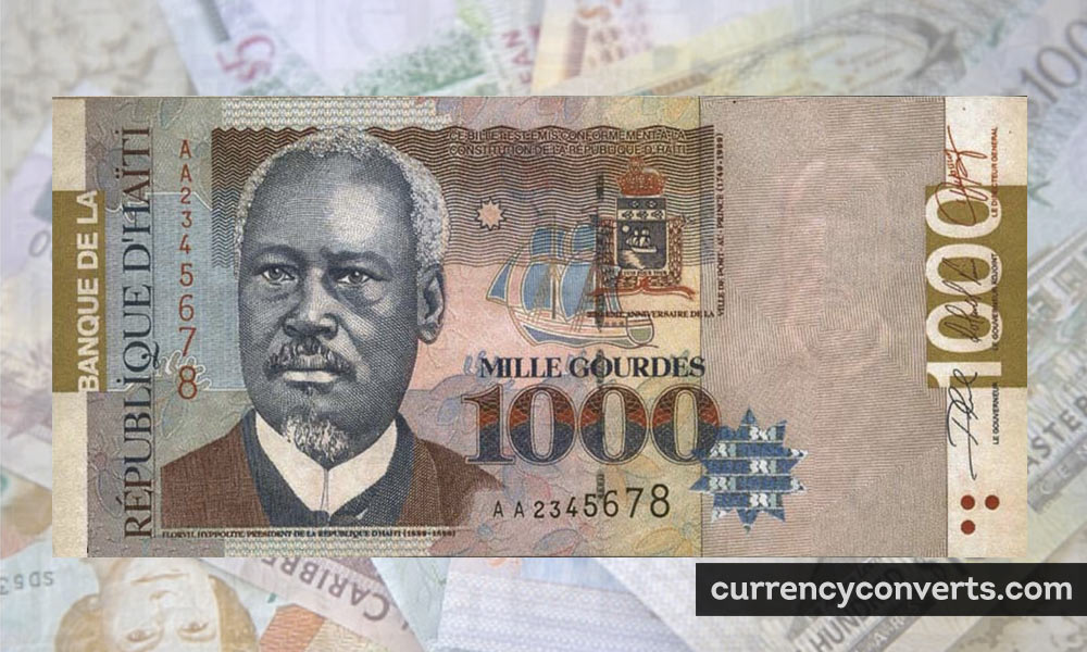 Haitian Gourde HTG currency banknote image