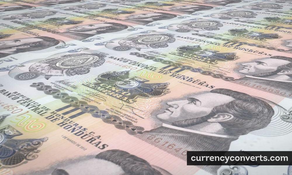 Honduran Lempira HNL currency banknote image