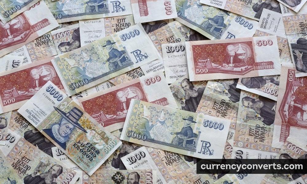 Icelandic króna - ISK money image