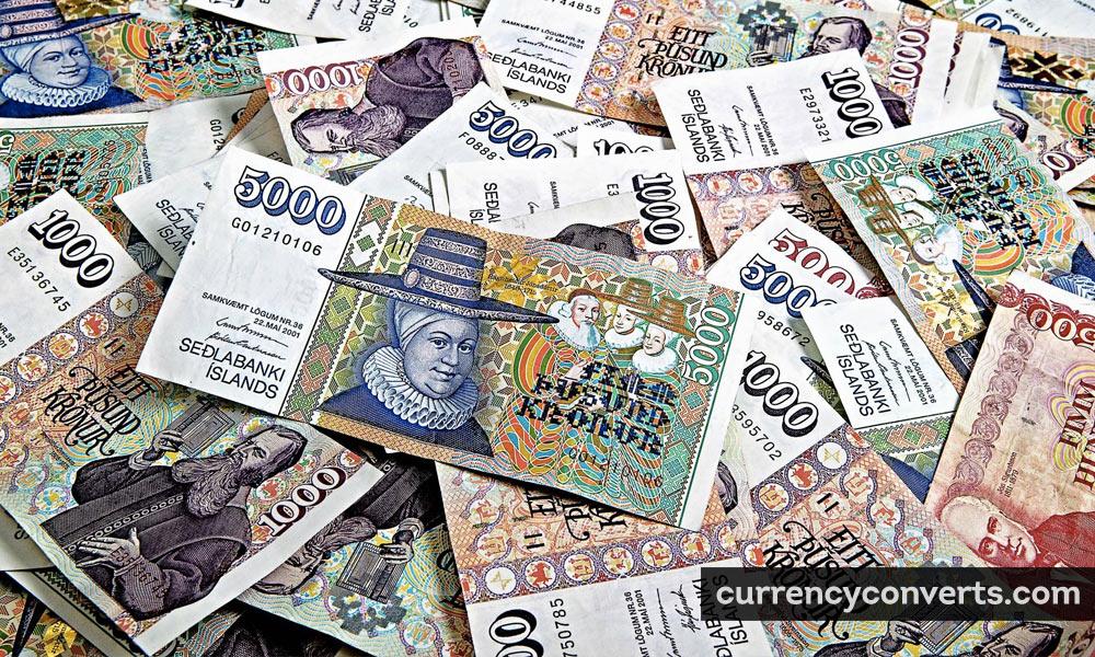 Icelandic Króna ISK currency banknote image