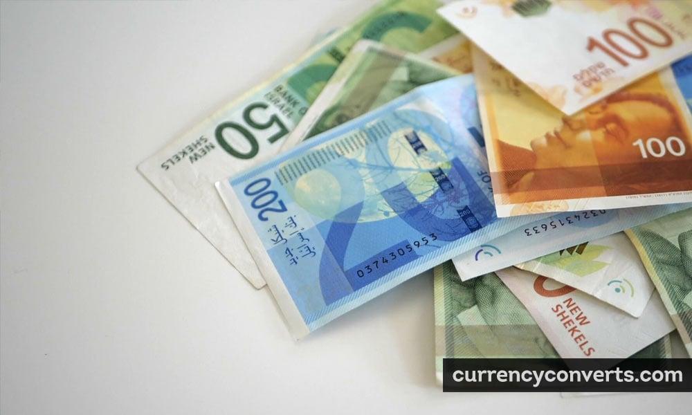 Israeli New Sheqel ILS currency banknote image