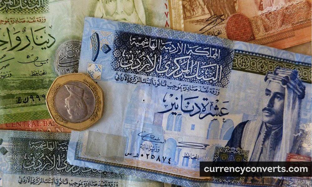 Jordanian Dinar JOD currency banknote image