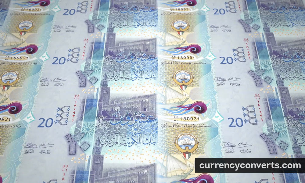 Kuwaiti Dinar KWD currency banknote image