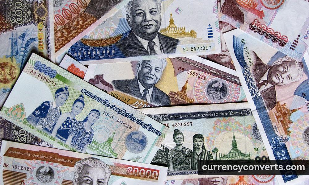Lao Kip LAK currency banknote image