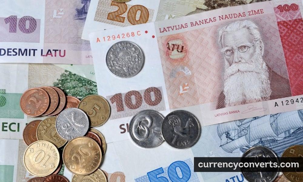 Latvian lats - LVL money image