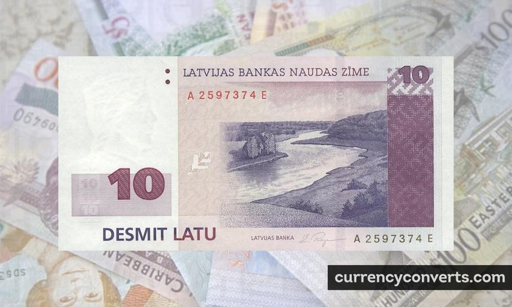 Latvian Lats LVL currency banknote image