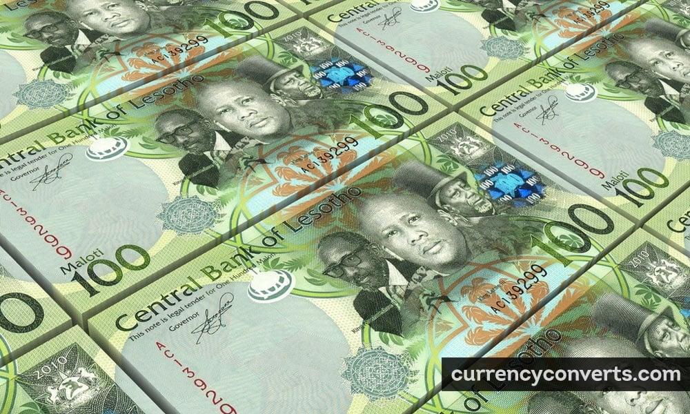 Lesotho loti - LSL money image