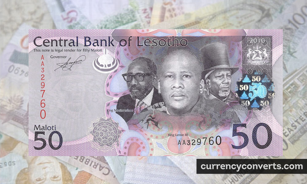 Lesotho Loti LSL currency banknote image