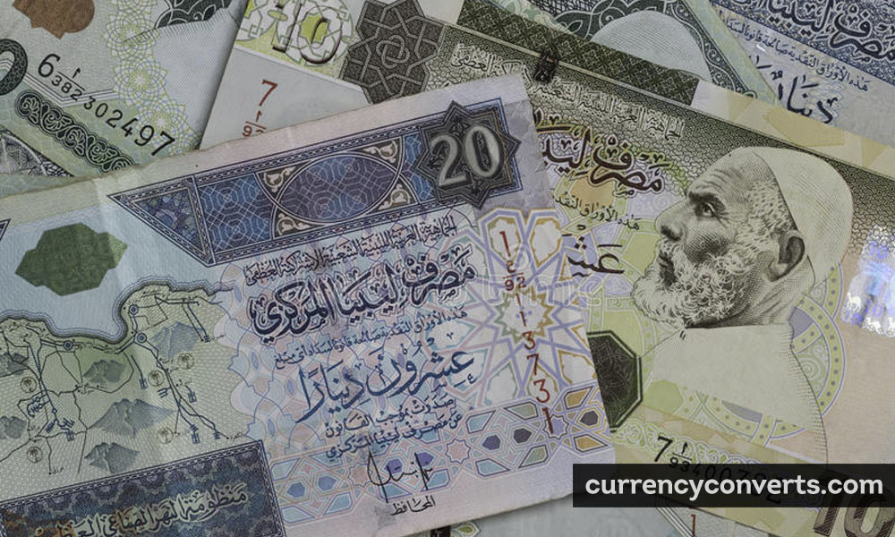 Libyan Dinar LYD currency banknote image