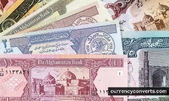 Afghan Afghani - AFN money images